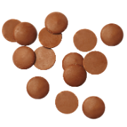 CHOC. BUTTON MILK(SIENNA) 15KG SIENNA MILK BUTTONS