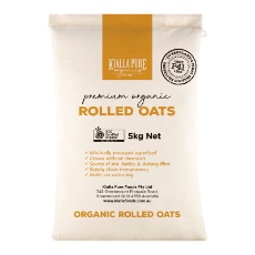 OATS ROLLED IMP.ORG CALICO 5KG KIALLA BRAND CALICO