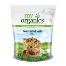 MY ORG MUESLI TOASTED 450G (6 X 450G)